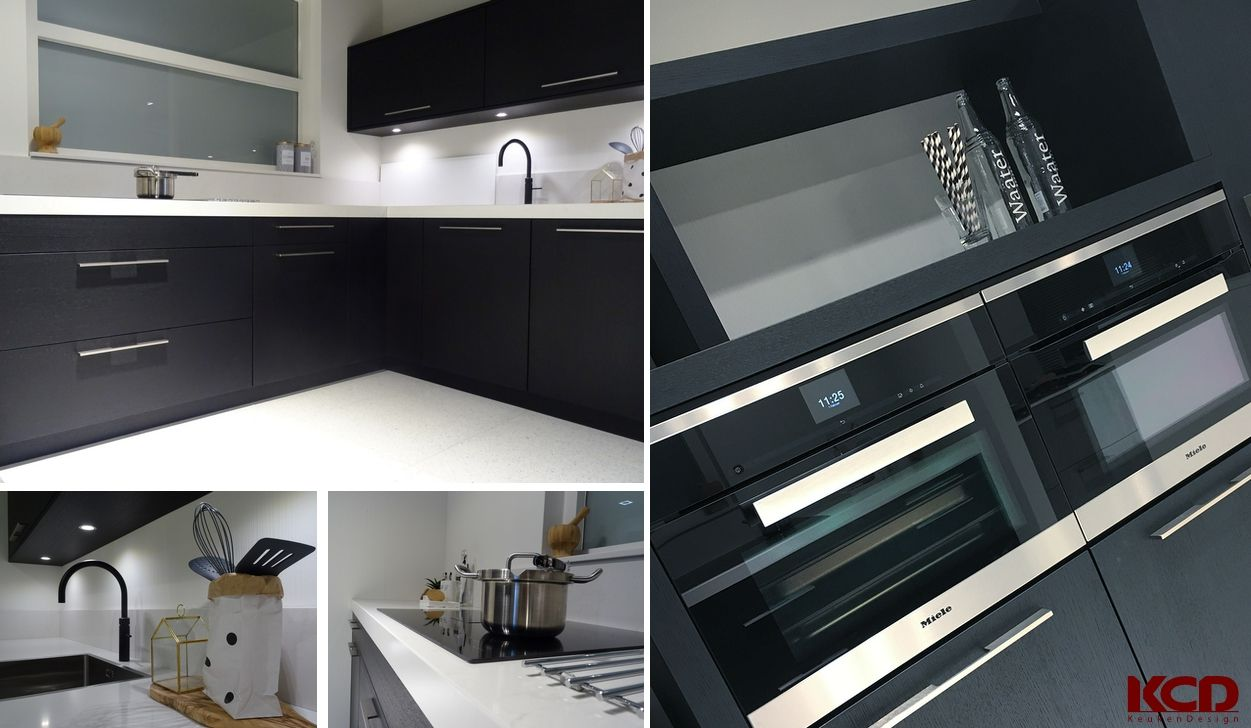 Kcd. keuken. showroom. modern. zwart. wit. showroom keukens