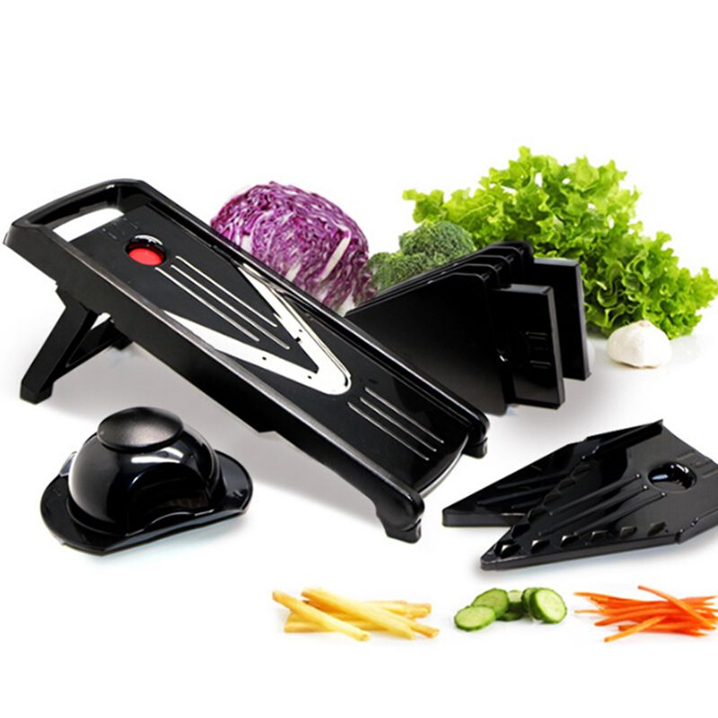 5 In 1 Mandoline Slicer Plastic Fruits Vegetable Cutter V Blade Endearing Kitchen Mandoline Design Inspiration