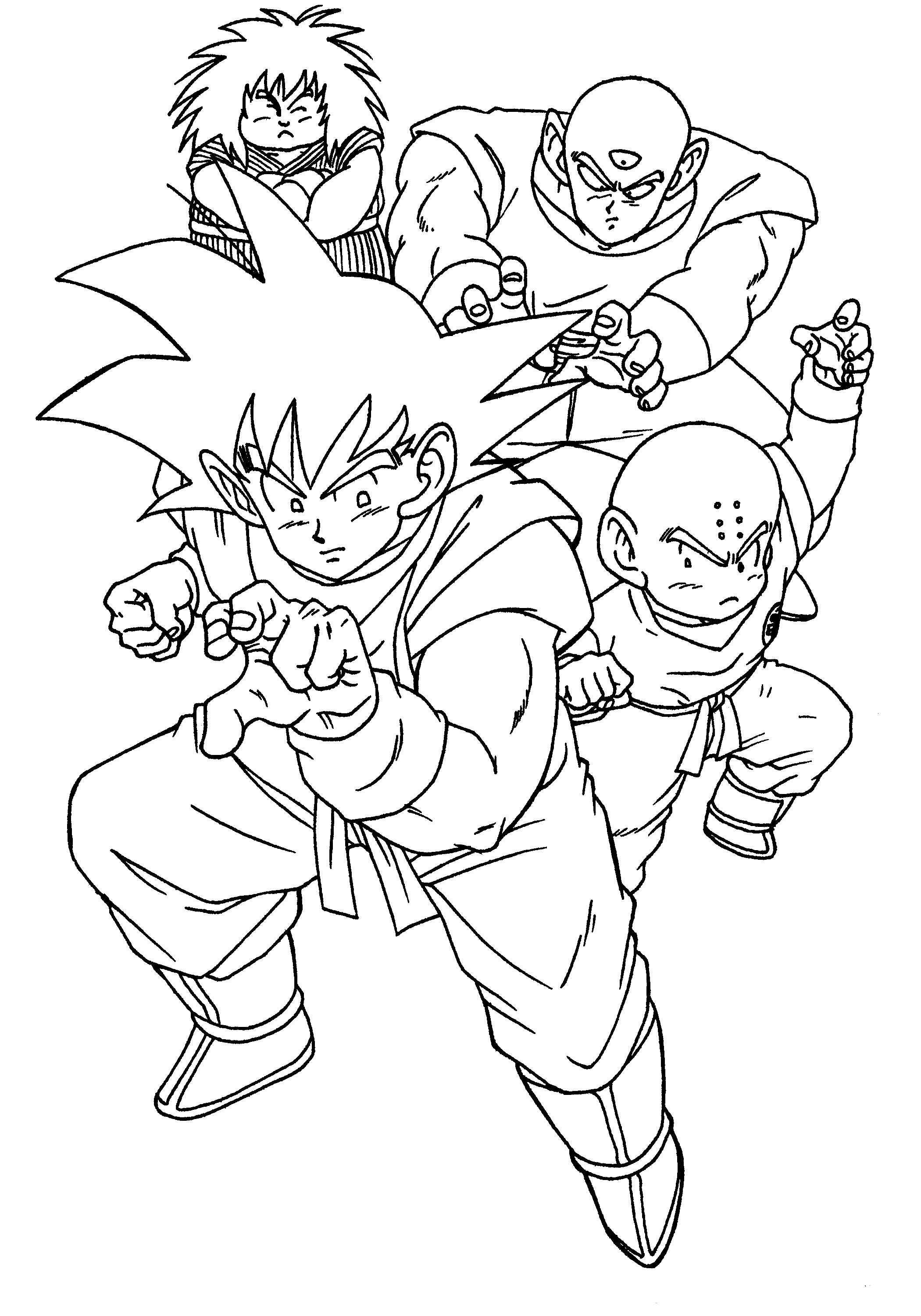 Dragon Ball Z Son Goku And Friends | Dragon Ball Z Coloring Pages ...