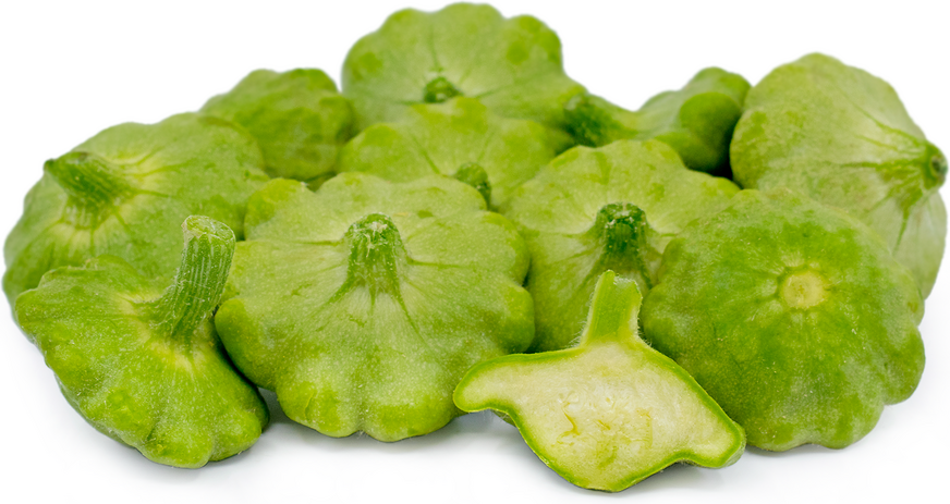 Baby Green Pattypan Squash Baby Green Patty Pan Squash Can Be Used Raw Or Cooked In A Variety Of Preparat Season Fruits And Vegetables Pattypan Squash Patties