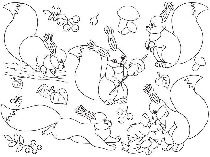 70% OFF SALE Squirrel Clipart - Digital Vector Woodland, Mushroom, Forest, Animals, Squirrels Clip Art #clipart #vector #illustration #thecreativemill
