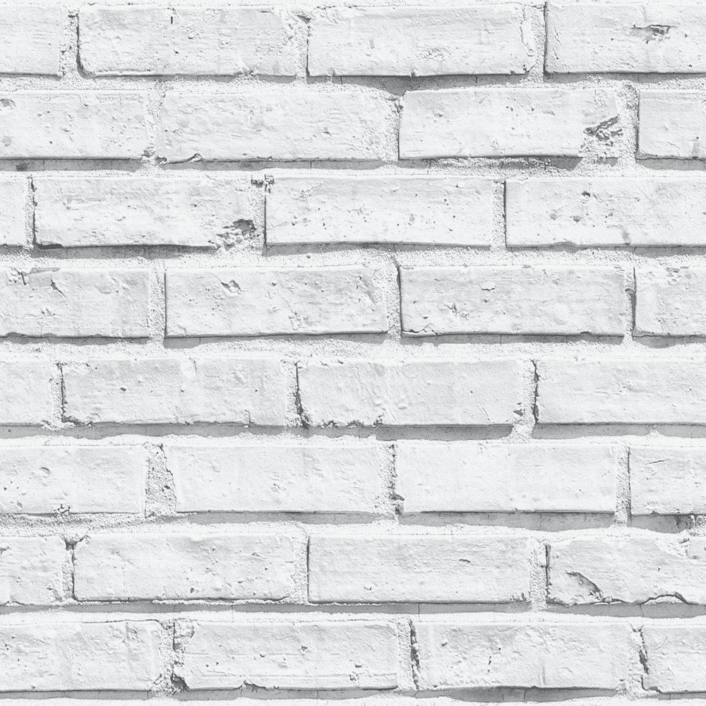 Arthouse White Brick Paper Strippable Wallpaper Covers 57 26 Sq Ft 623004 The Home Depot White Brick Wallpaper Brick Effect Wallpaper Brick Wall Wallpaper