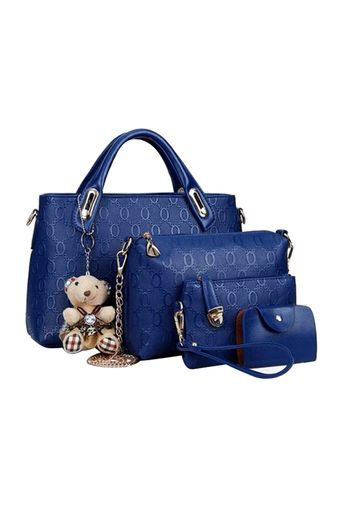 Belanja Tas Fashion - High Quality Korean Style 4in1 - Biru Indonesia Murah  - Belanja Top c4a0e1b871