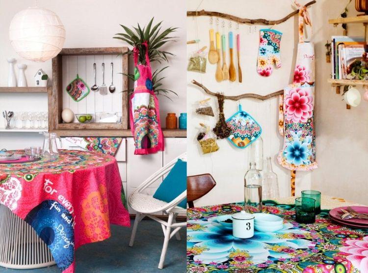 Accessoires und Wohntextilien mit verspielten Mustern - einrichtung im karibik stil