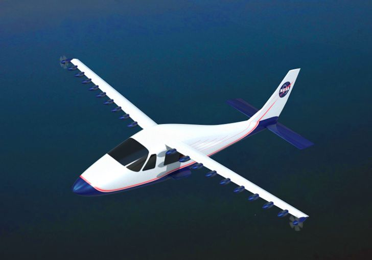 nasa, leaptech wing, electric plane, aviation, electric motor, joby, 18 motor