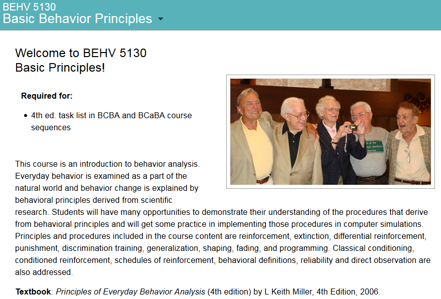 This Course Is An Introduction To Behavior Analysis Everyday