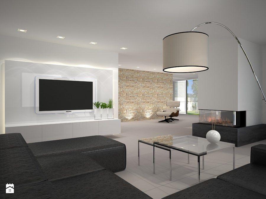 Bauhaus Kalk dom w stylu bauhaus niemcy duży salon styl minimalistyczny