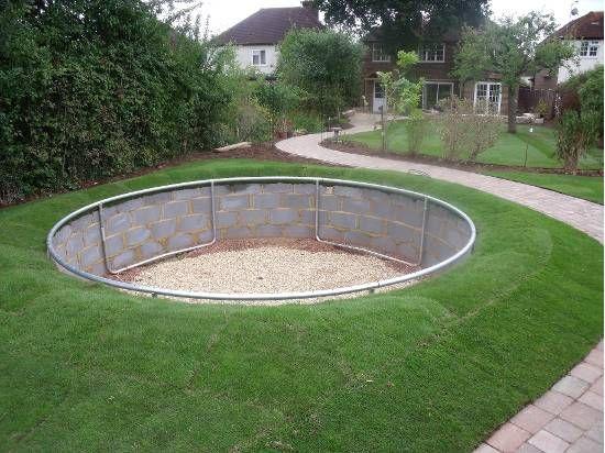 Garden Design With Trampoline sunken gravel garden - google search | garden design | pinterest
