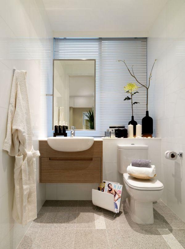 schönes-bad-weiße-gestaltung - deko-blumen - 30 super Ideen für - dekoration für badezimmer