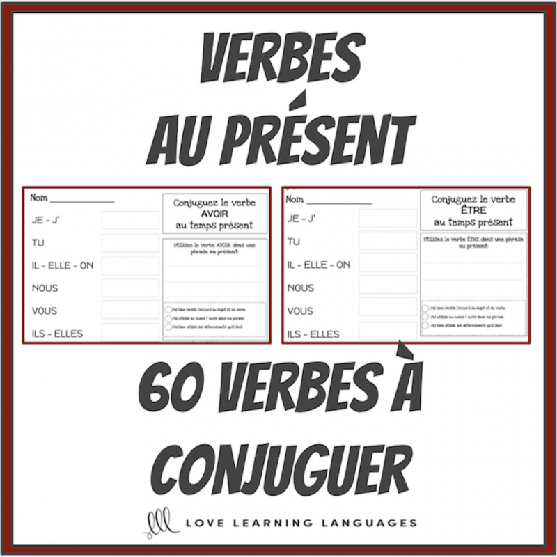 Verbes Au Present 60 Verbes Francais A Conjuguer Verbes Francais Apprendre Le Francais Parler Francais