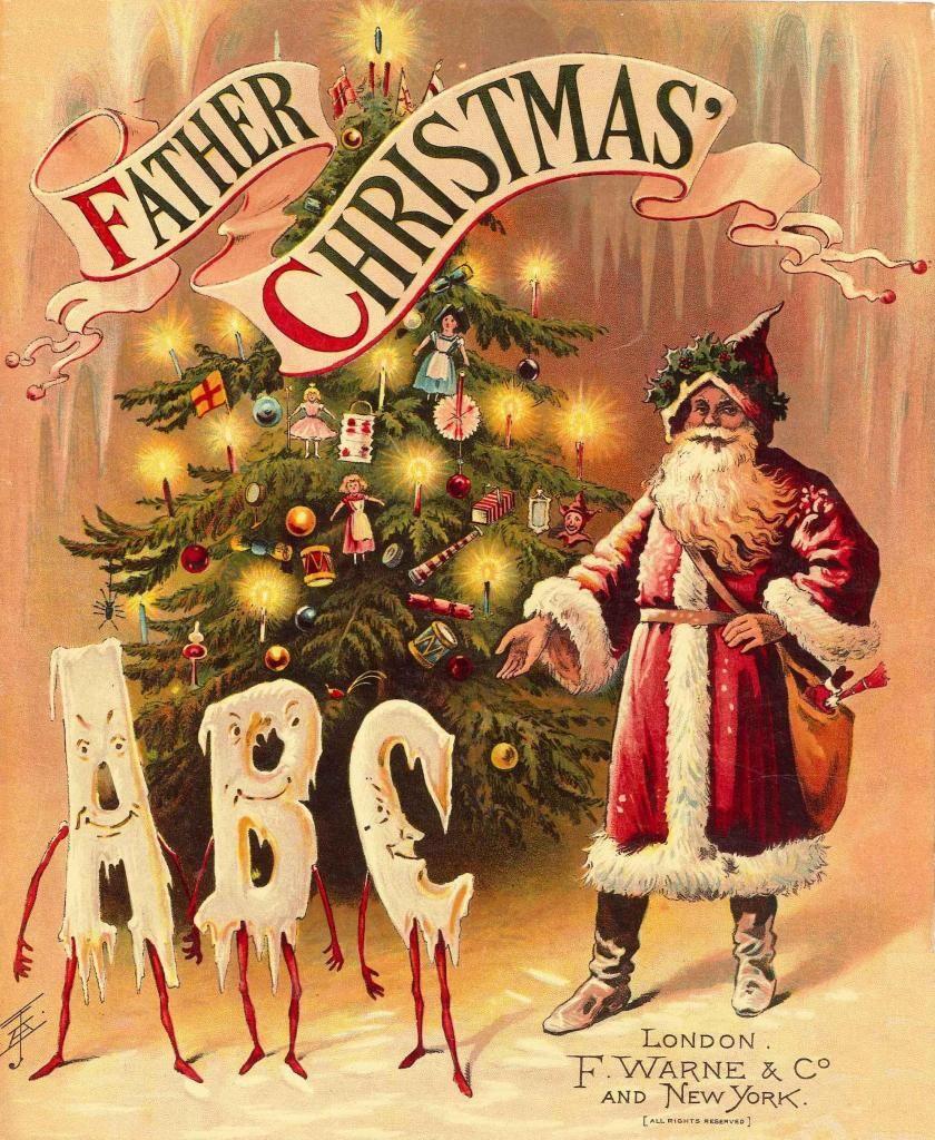 Father Christmas. Vintage Santa.   ABC.