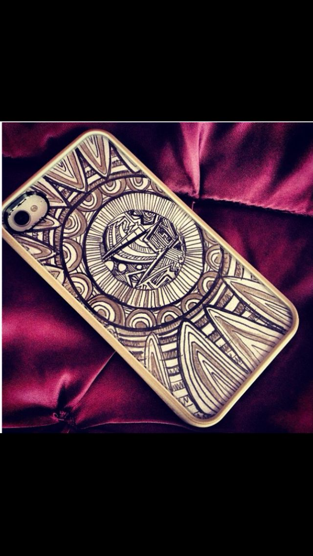 Creative phone and unique DIY phone case! All you do is get a clear phone case and doodle a cool picture/design on a piece of sturdy white paper, and you got a cool homemade phone case!!