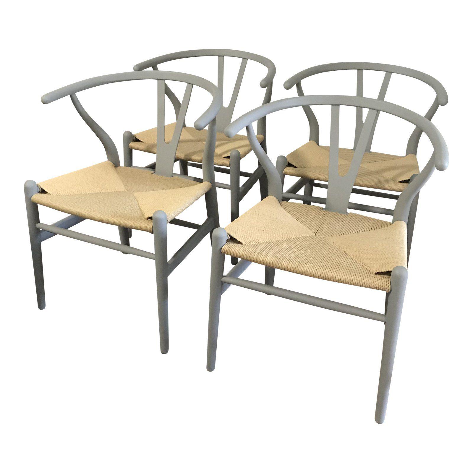 Set of 4 Wishbone Chairs by StilnovoUSA Chair, Wishbone