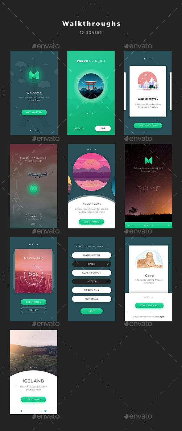 Mugen App UI KIT - Walkthroughs (User Interfaces) #userinterface