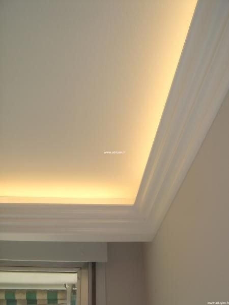 Photo of The decorative cornice for your neon-type luminous ceilings