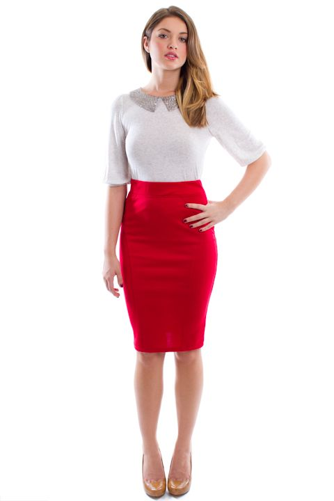 What-To-Wear-With-A-Red-Pencil-Skirt.jpg 480×720 pixels | Giacomo ...