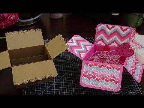 Vianneycreates 5x7 Pop Up Box Card Tutorial Pop Up Box Cards Box Cards Tutorial Pop Up Cards