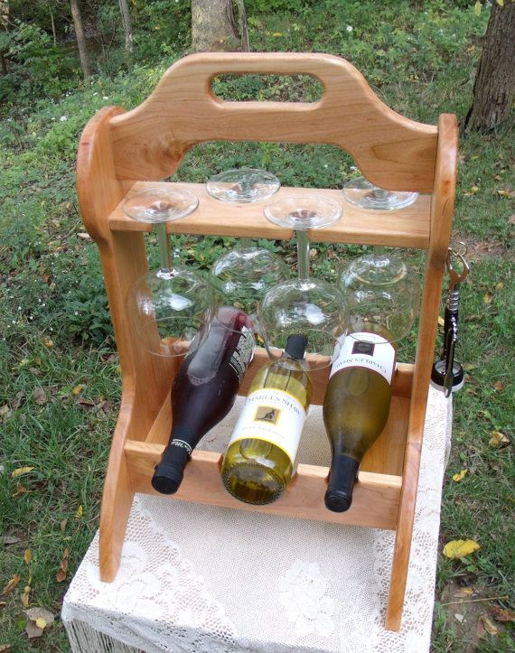 Unique Black Cherry Wine Caddy from by BlackWaterWorkshops on Etsy, $87.00