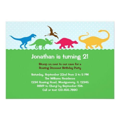 Dinosaur Birthday Invitations Dinosaur Stampede Birthday Party