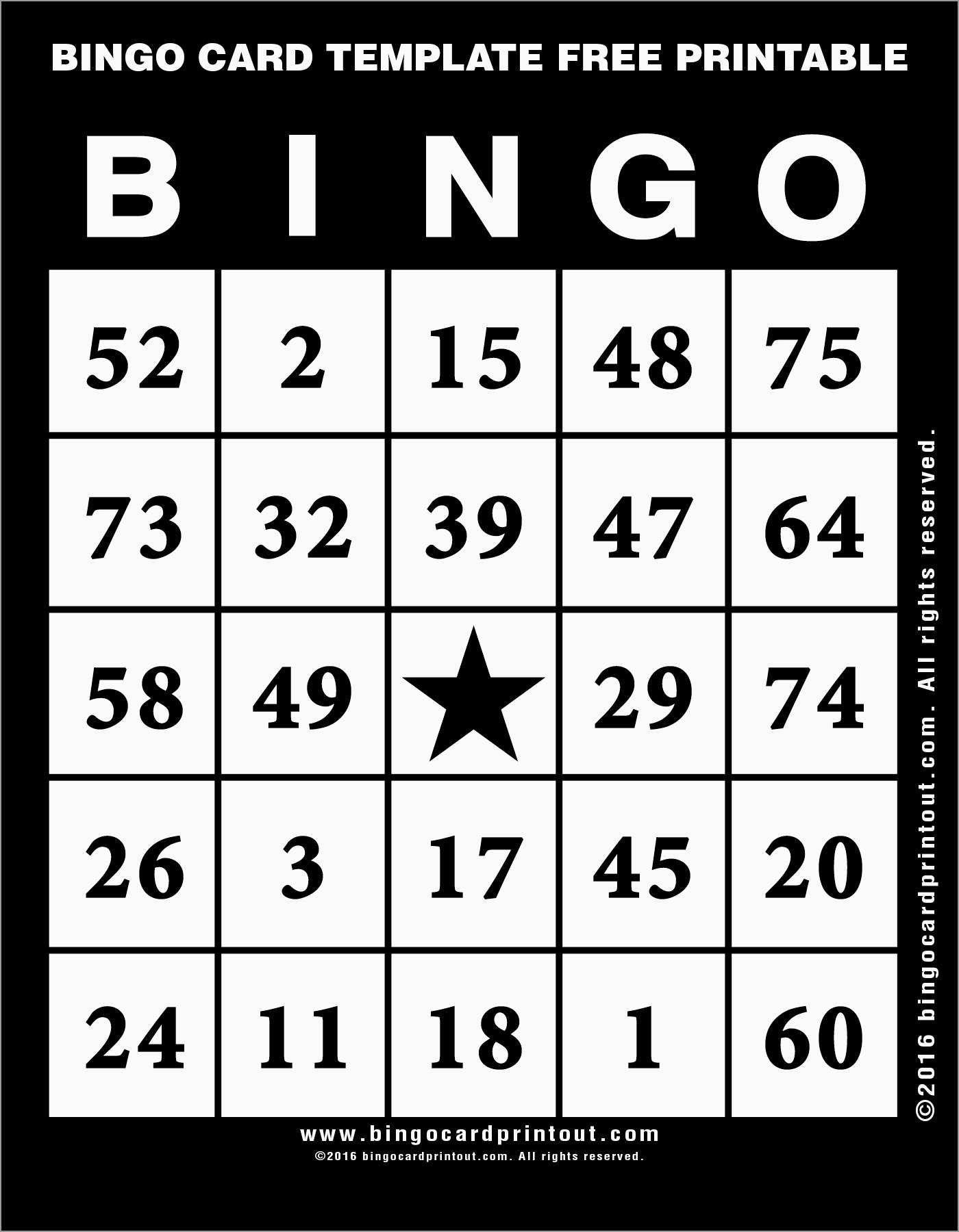 Bingo Template Excel Bingo Card Template Bingo Template Trading Card Template