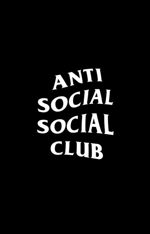 Assc Club Black White Anti Social Anti Social Social Club