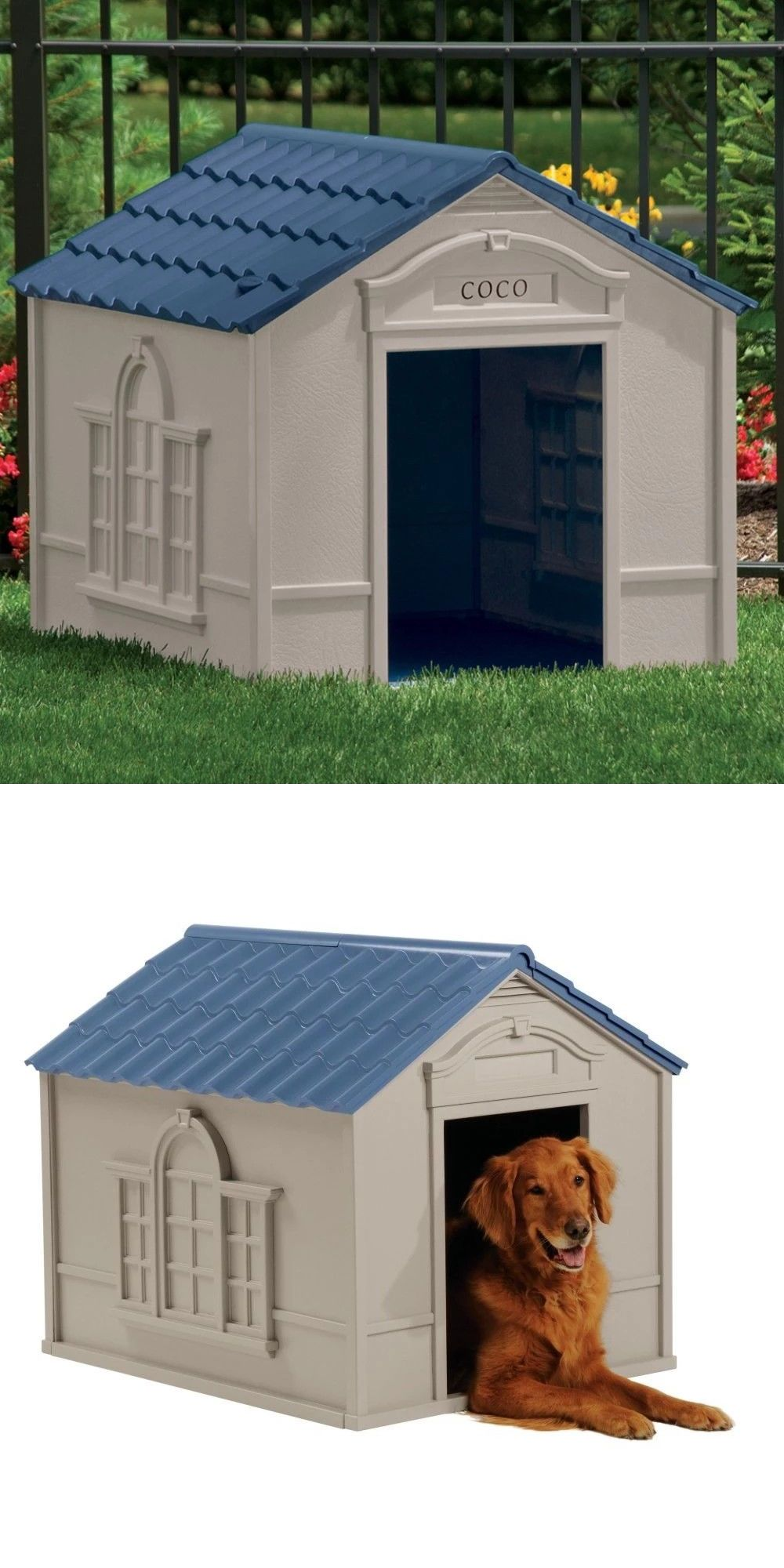 Dog Houses 108884 Deluxe Extra Large Pet Dog Cat House Home