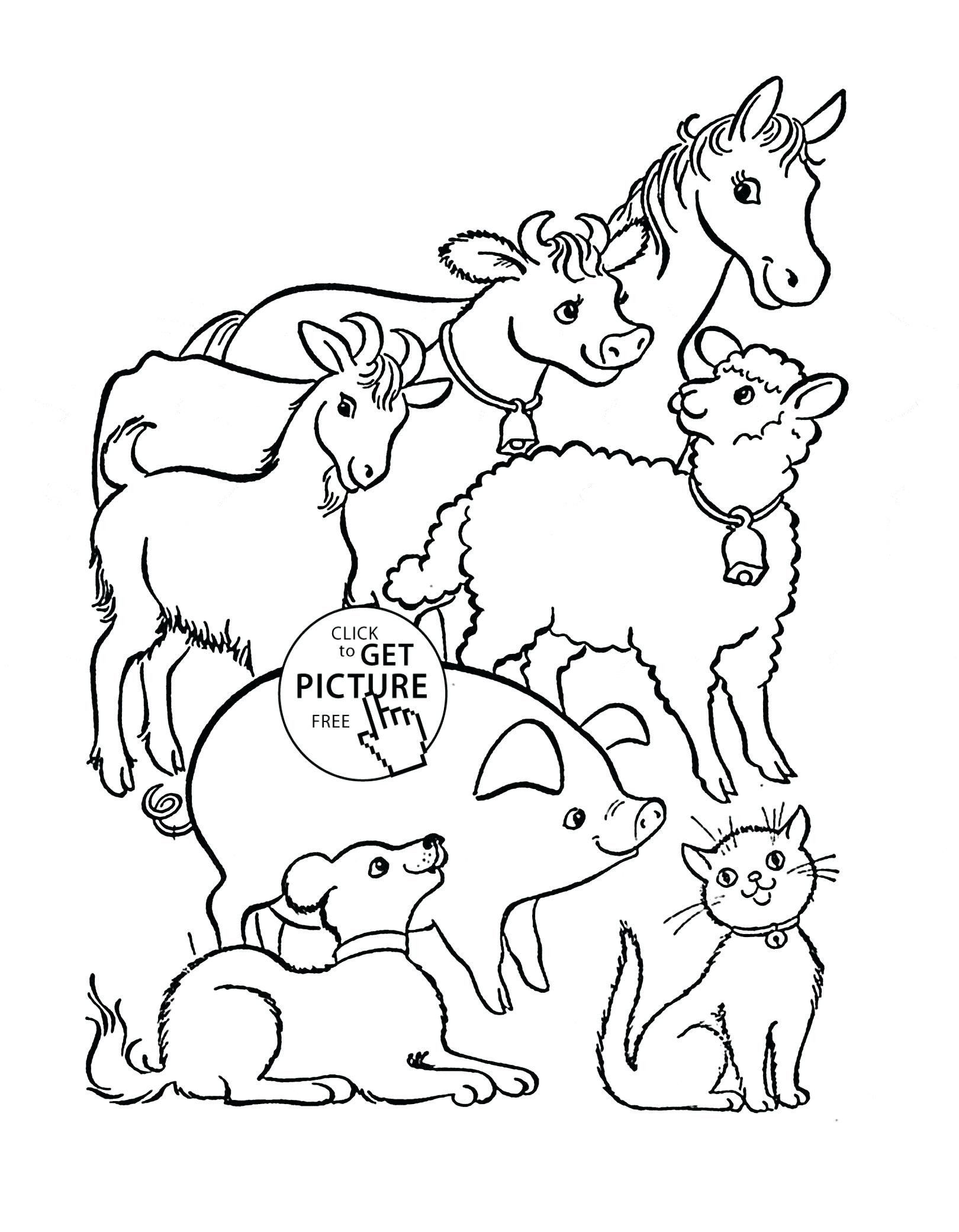 Farm Animal Coloring Pages Free Coloring Book Staggering Farm Animal Coloring Pages For In 2020 Farm Animal Coloring Pages Horse Coloring Pages Animal Coloring Pages