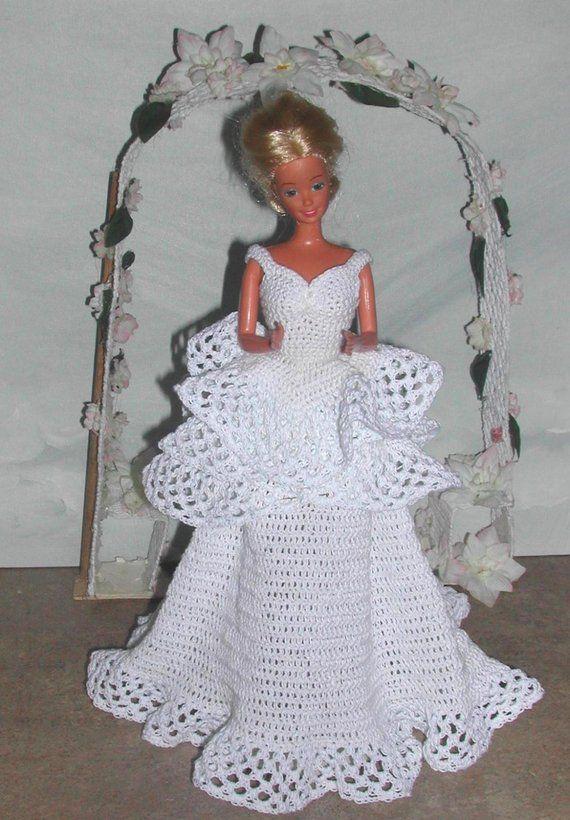 Crochet Fashion Doll Barbie Pattern 480 Holiday Victorian Bride