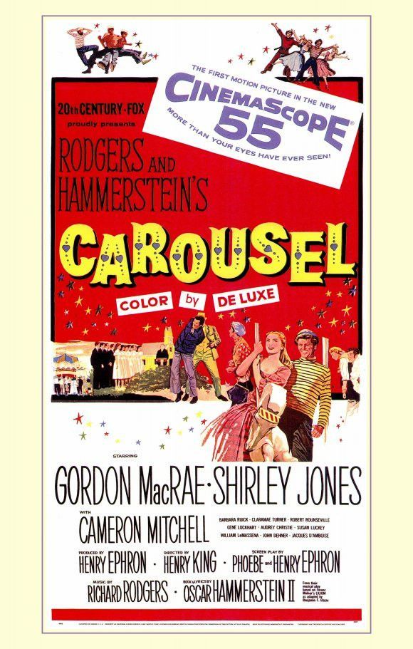 carousel 11x17 movie poster 1956 movie posters pinterest