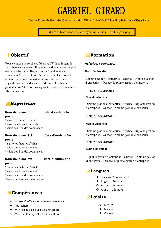 Exemple De Cv Moderne Gratuit Learn English Grammar Learn English English Grammar