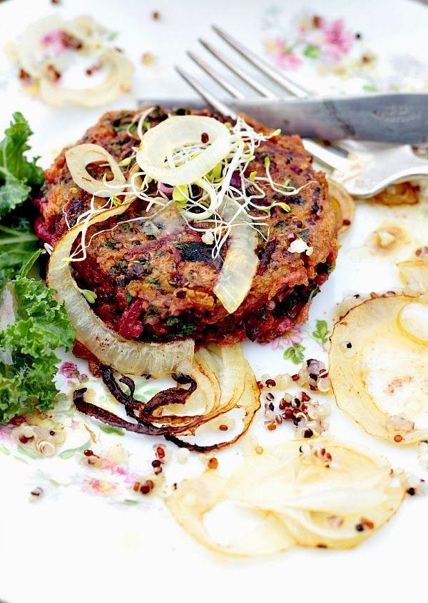 v g burger via les cuisines de garance simple pleasures vegetarian pinterest kale. Black Bedroom Furniture Sets. Home Design Ideas