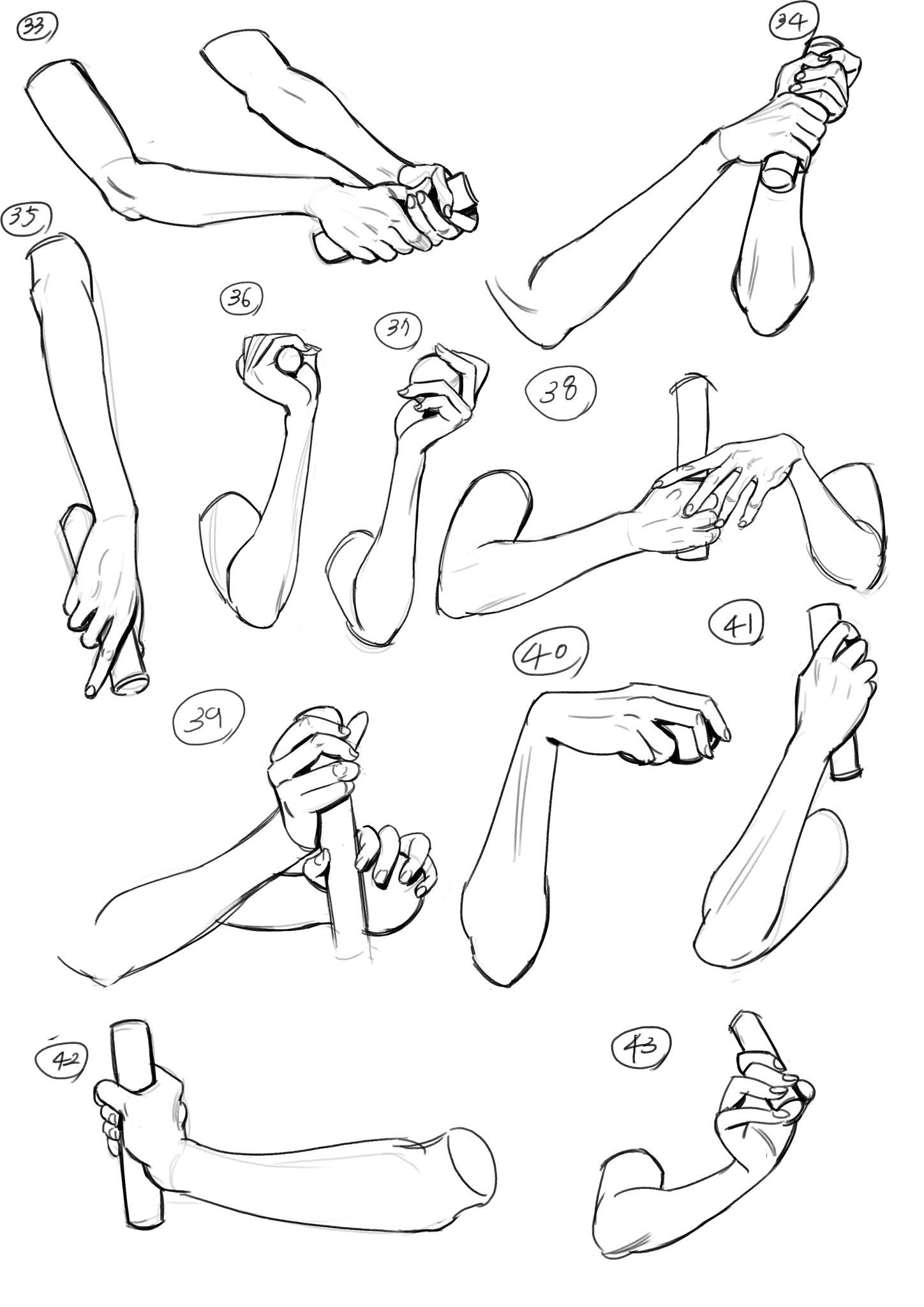 Hand Gestures Easy Anime Drawings Step By Step Tutorial Black And White Sketch In 2020 Anime Drawings Sketches Anime Drawings Hand Drawing Reference