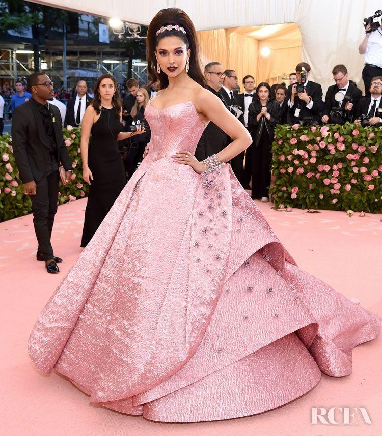 Deepika Padukone In Zac Posen 2019 Met Gala Weddingdresseszacposen Latest Gown Design Gala Dresses Met Gala