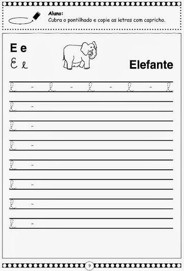 Alfabeto Pontilhado Em Letra Cursiva Com Imagens Atividades
