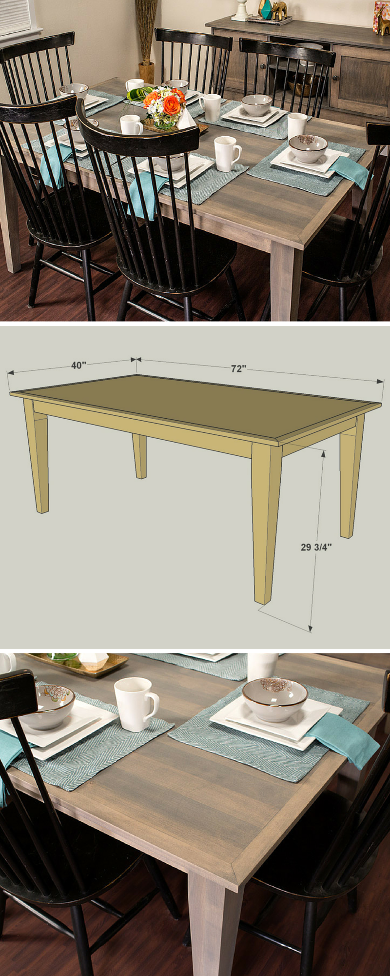 Do It Yourself Divas Diy Kitchen Table Makeover: How To Build A DIY Farmhouse Dining Table