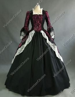 Colonial Renaissance Period Victorian Prom Dress Ball Gown Theatre ...