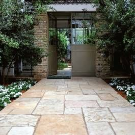 Reclaimed Tiles & Pavers- Age-old materials lend charm and character to modern-day homes. #outdoors #landscaping #southwestgardening