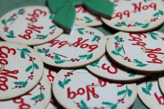 1 Vintage Holiday Egg Nog Bottle Caps by CaityAshBadashery on Etsy, $1.95