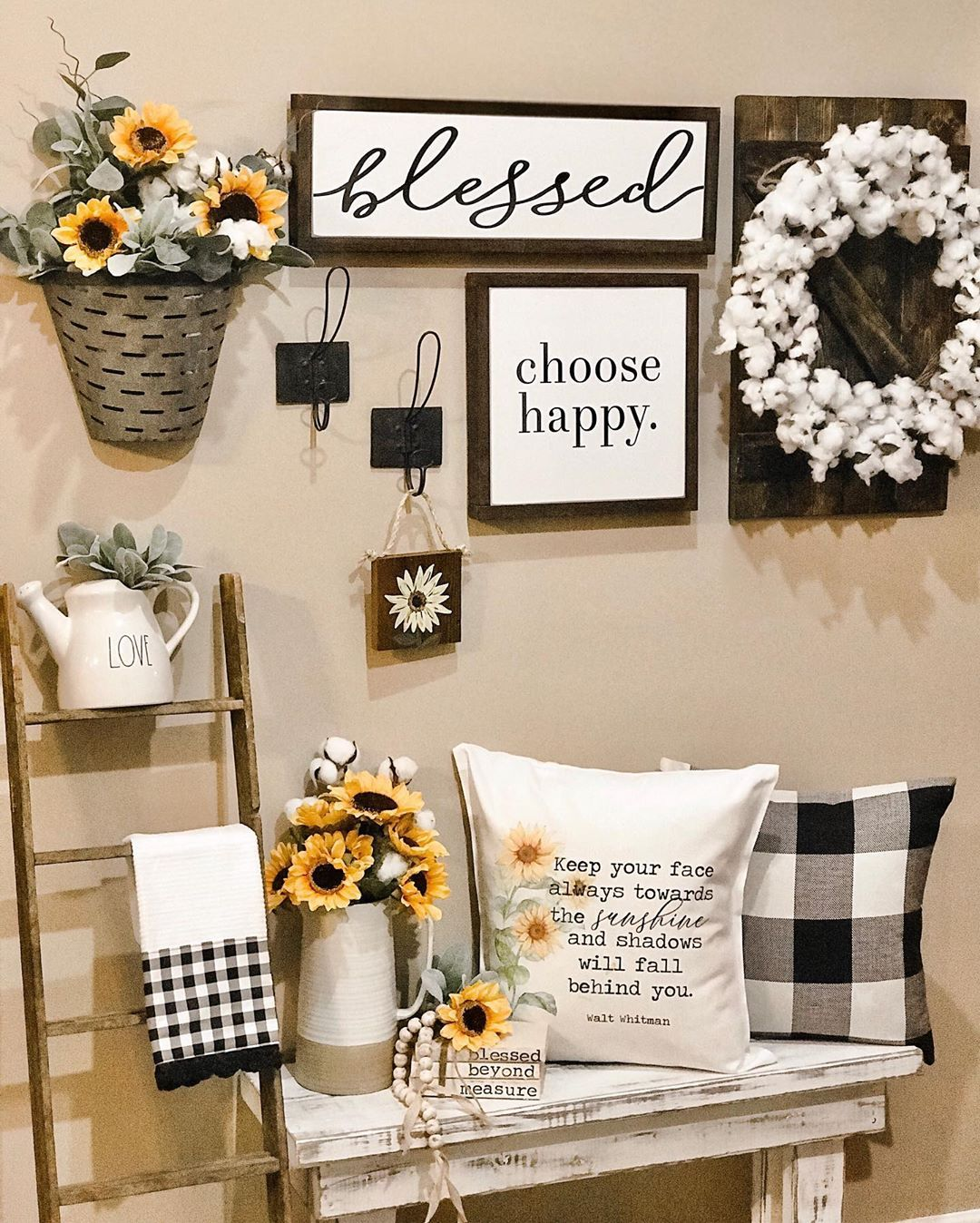 Kelly On Instagram Happy Wednesday Friends I Am Feeling So Incredibly Blessed That My Sun Sunflower Home Decor Home Decor Farmhouse Decor Living Room #sunflower #rug #for #living #room