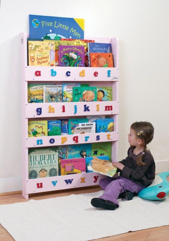 aufbewahrung im kinderzimmer ausgezeichnetes kinder b cherregal f r ca 80 b cher rosa mit. Black Bedroom Furniture Sets. Home Design Ideas