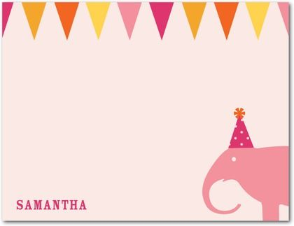 Thank You Cards Circus Chic - Front : Tea Rose
