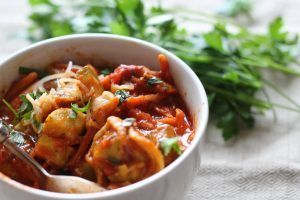 One Pan Tortellini Primavera green salad  Print  Prep Time: 8-10 minutes Cook T... - Elaine Shoes -