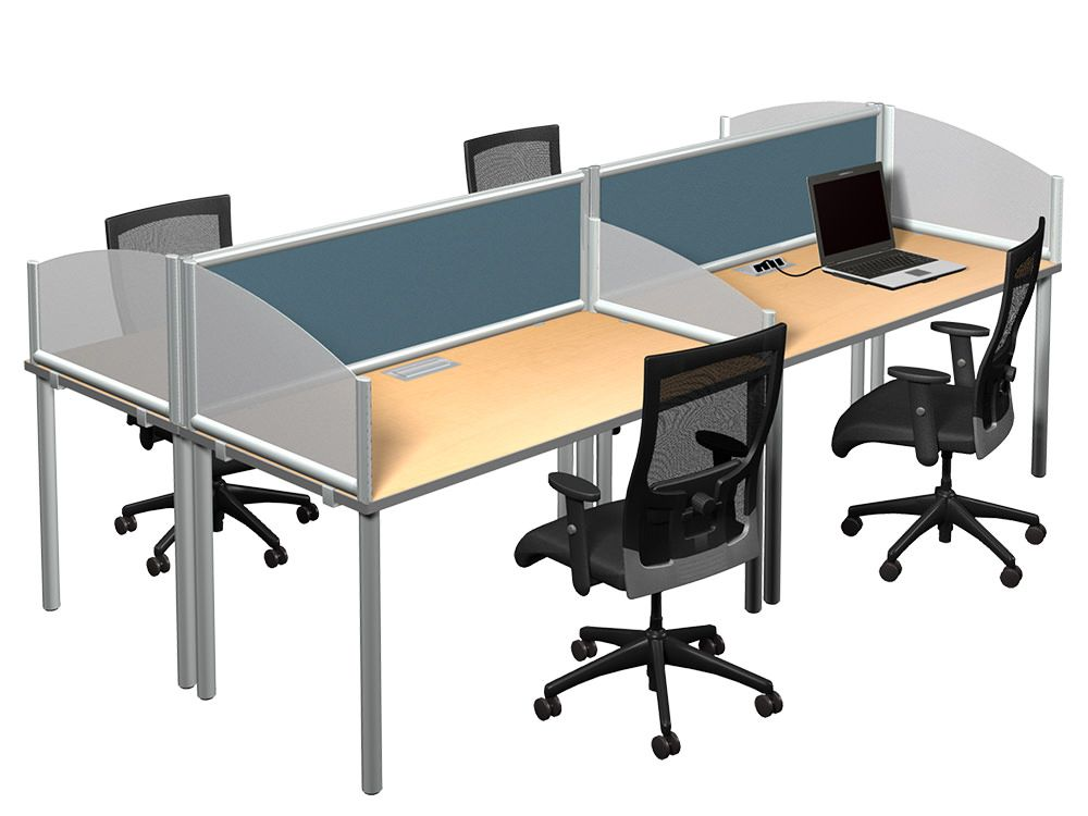 Attrayant Arced Wings In Frosted Acrylic And Terrace Panel Desk Dividers Add Privacy  To Your Desk Or Table.