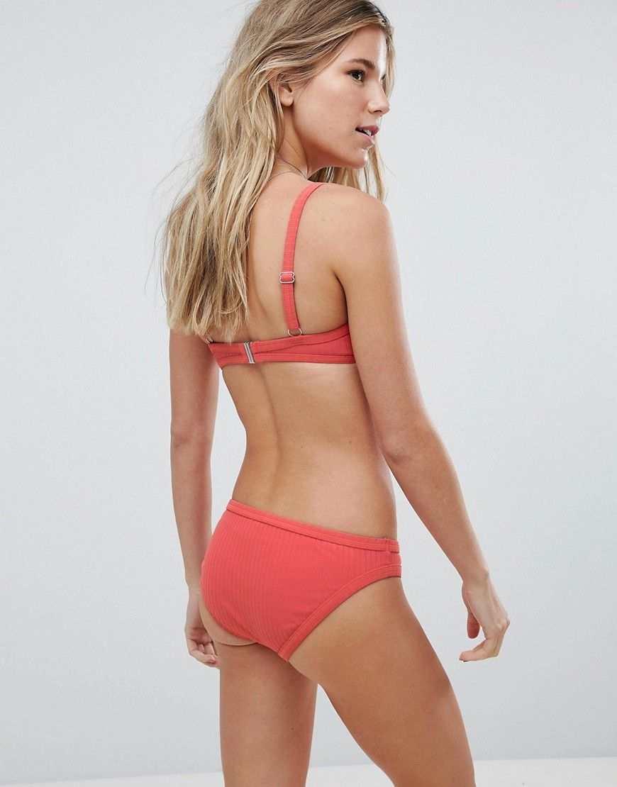 693763f69b7 Seafolly Inka Rib Lace Up Bralette Bikini Top - Red