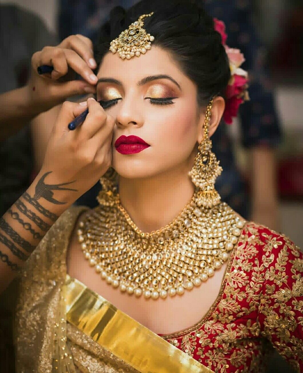 Cutipieanu Pakistani bridal makeup, Indian bridal