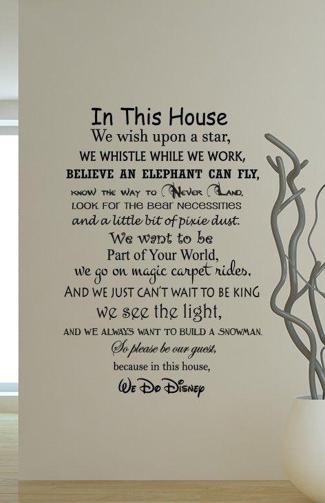 We Do Disney Wall Decal Sticker Disney Wall Decals Disney Wall