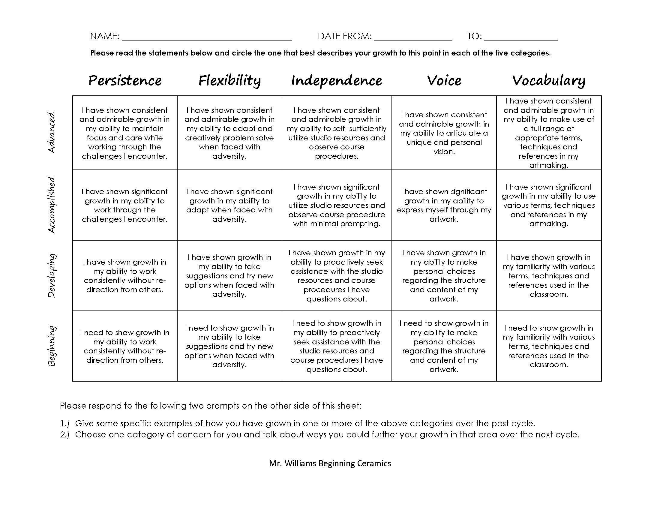 GrowthBasedAssessmentRubricJpg   Teach