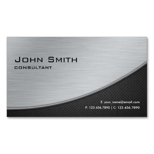 Professional Elegant Modern Computer Repair Silver Business Card Zazzle Com Metal Business Cards Cheap Business Cards Printing Business Cards