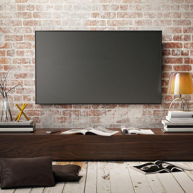 A Quelle Hauteur Fixer Une Tv Au Mur Nos Conseils Mur Tv Decor Salon Maison Tv Monte Sur Le Mur