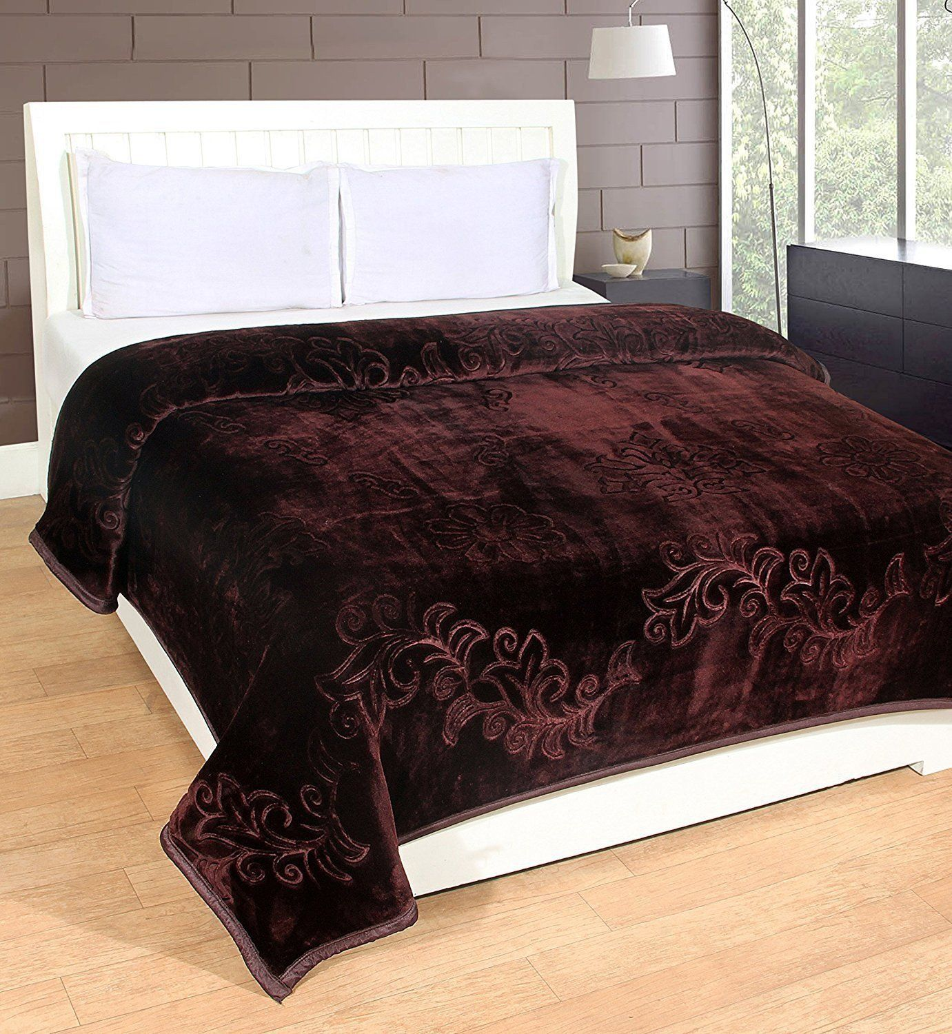 HOMECRUST Blankets Solid Colour Ultra Soft Floral Single